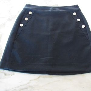 BANANA REPUBLIC || Navy Blue Mini Skirt